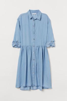 H&M Lyocell Shirt Dress - Blue