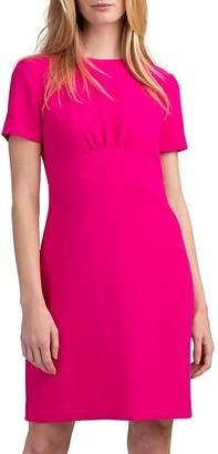 Trina Turk Contract Gathered Short-Sleeve Dress