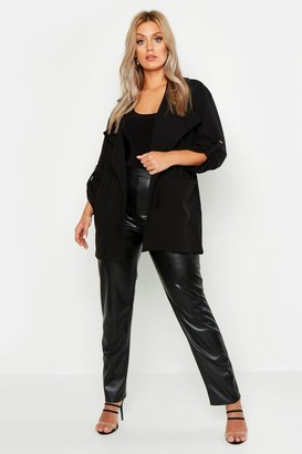 boohoo Plus Waterfall Ruched Utility Jacket
