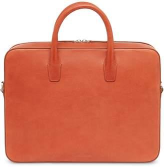 Mansur Gavriel Vegetable Tanned Briefcase - Brandy