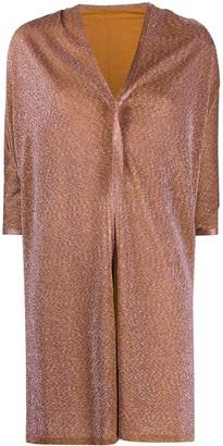 Missoni Metallic-Thread Asymmetric Coat