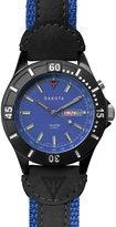 Dakota Men's Quartz Metal and Leather Watch, Color:/Black (Model: 27287)