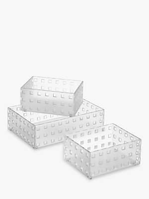like-it Bricks Plastic Storage Box, Large, Set of 3