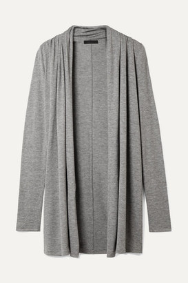 The Row Knightsbridge Stretch-jersey Cardigan - Gray