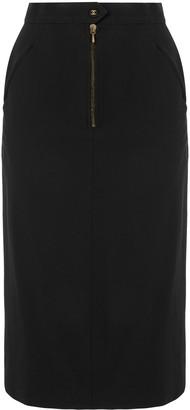 Chanel Pre-Owned 1980s CC logo skirt