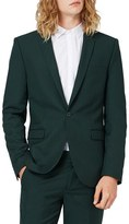 Topman Men's Dark Green Skinny Fit Suit Jacket