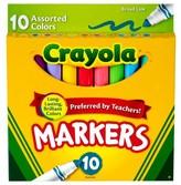 Crayola Markers, Broad Line, 10ct - Assorted Multicolor