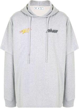 Off-White Pivot cotton hoodie