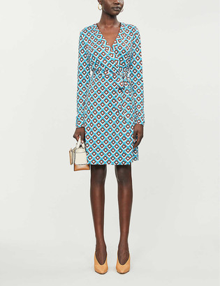 Diane von Furstenberg Julian wrap recycled-silk jersey midi dress