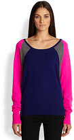 Diane von Furstenberg La Grave Colorblock Cashmere Sweater