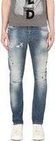 Diesel Tepphar 0854 slim-fit distressed tapered jeans