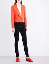 Claudie Pierlot Valerianne cropped crepe jacket