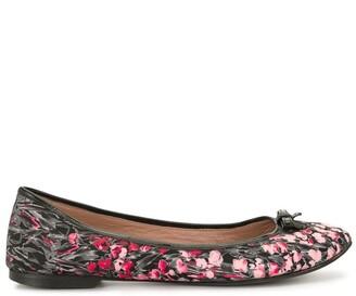 Valentino Garavani Pre Owned Floral-Print Ballerina Flats