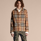 Burberry Check Cotton Flannel Pyjama-style Shirt, Brown