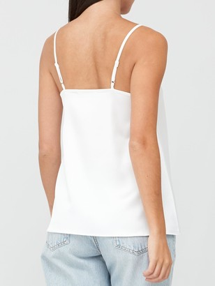 Very Lace Trim Cami Top - Ivory
