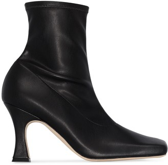 A.W.A.K.E. Mode Priscilla 70mm leather ankle boots