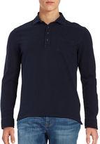 Black Brown 1826 Long Sleeved Polo Shirt