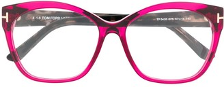 Tom Ford Oversized Frame Two-Tone Glasses