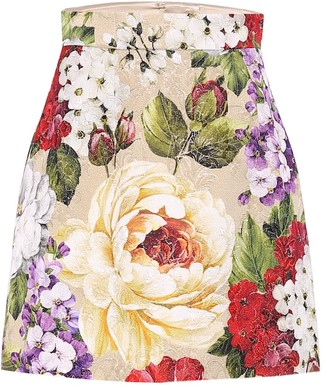 Dolce & Gabbana Floral brocade pencil skirt