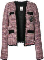 Pinko tweed jacket with gemstone embellishment