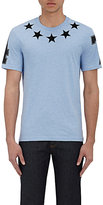Givenchy Men's Star-Appliqué T-Shirt-LIGHT BLUE