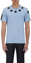 Givenchy Men's Star-Appliqué T-Shirt-LIGHT BLUE