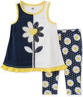 Kids Headquarters 2-Pc. Daisy Tunic and Capri Leggings Set, Baby Girls (0-24 months)