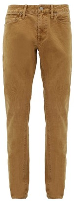 Frame L'homme Cotton-blend Corduroy Slim-leg Trousers - Mens - Camel