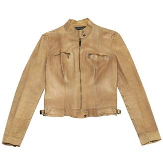 Gucci Camel Leather Leather jackets