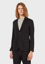 Emporio Armani Travel Essential Single-Breasted Jacket In Double Jersey