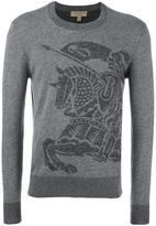 Burberry knight motif jumper