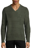 Nautica Scroll-Knit V-Neck Sweater