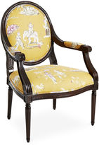 Massoud Furniture Dash Armchair, Yellow Chinoiserie