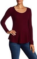 Sofia Cashmere Cashmere Rib Peplum Sweater