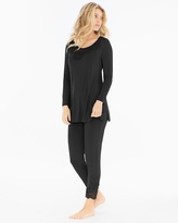 Soma Intimates Tunic Pajama Set Black
