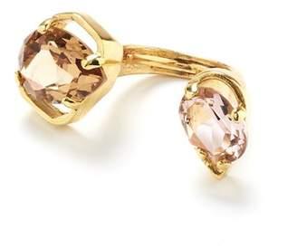 Oscar de la Renta Crystal Offset Ring