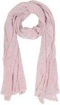 Mila Schon Solid Light Pink Wool Blend Stole