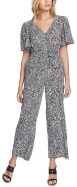 1 STATE 1.State 1.state Flutter-Sleeve Tie-Belted Jumpsuit
