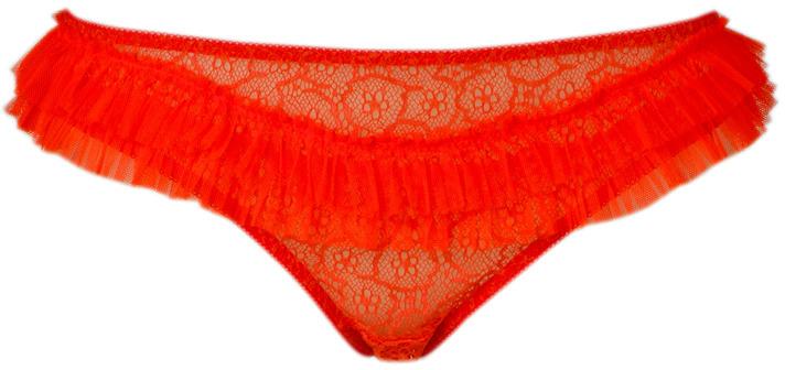 Princesse Tam-Tam Neon Orange Mecanique Lace Brief