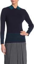 Gracia Colorblock Stripe Knit Sweater