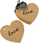 "Kate Aspen Heart"" Cork Coasters, Set of 4"