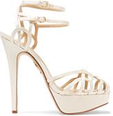 Charlotte Olympia Ursula satin sandals