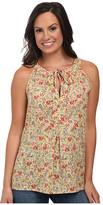 Roper 9756 Coral Ditsy Floral Printed S/L Top