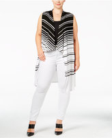 INC International Concepts Plus Size Striped Knit Vest, Only at Macy's