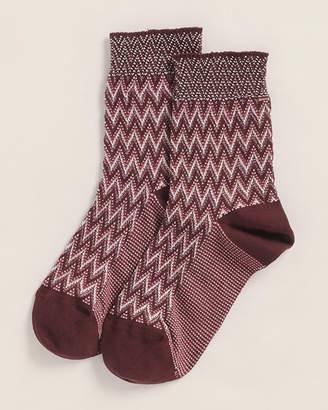 Missoni Classic Faded Zig Zag Print Socks
