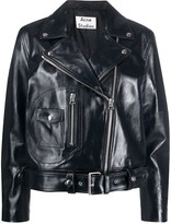 Acne Studios Hand-Painted Biker Jacket
