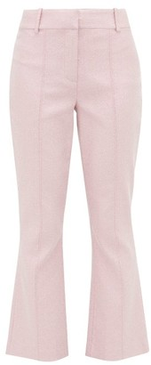 Sies Marjan Danit Lurex Flared Trousers - Womens - Light Pink
