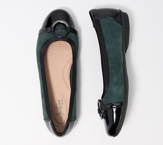 Clarks Collection Leather or Suede Flats - Gracelin Wind