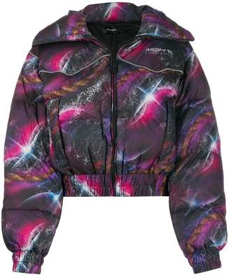 Misbhv Galaxy-print down jacket