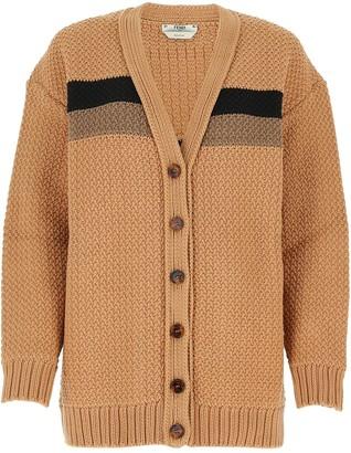 Fendi Cable Knit Cardigan